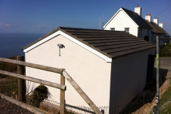Garage concrete tile roof, Ilfracombe