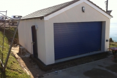 Garage re-build during works in Ilfracombe