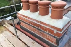 New Chimney build inc leadwork in Combe Martin, North Devon