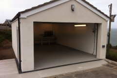 Re-built garage in Ilfracombe