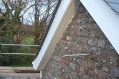 New plastic fascia boards, Combe Martin, Exmoor