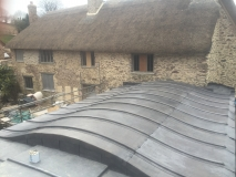 Curved Lead roof