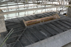 Code 8 milled lead flat roof
