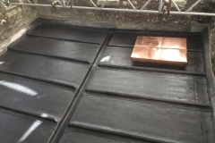Lead flat roof and copper hatch in newton st petroc, holsworthy