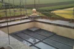 Lead flat roof to tower in Croyde 2