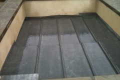Lead flat roof to tower in Croyde 3