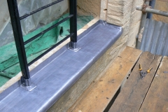 Lead window sill, Tiverton, Devon