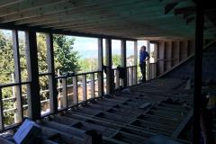 Loft conversion during works