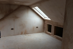 Loft conversion plastered, Ilfracombe 1