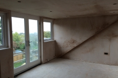 Loft conversion plastered