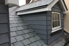 New dormer with cedral cladding