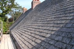 Salvaged slate roof, Torrington
