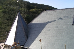 Spanish slate roof and lead hips, Lee, Ilfracombe