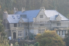 natural spanish slate Re-roofing works completed