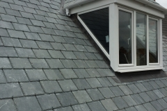 new slate roof with re-built dormer