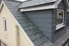 slate roof and new dormer with cedral cladding in swimbridge, barnstaple