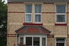 plain tile porch with lead hips in barnstaple